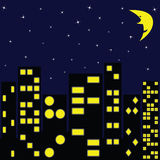 City in night Royalty Free Stock Photo