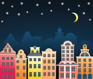 City at night. Illustration vector illustration