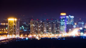 City at night. Skyline of cityscape at night Royalty Free Stock Photography