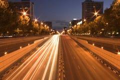 City at night. Night city shot stock photo