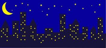 City at night. City skyline view at night Stock Photos