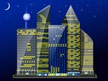 City_night stock illustrationer