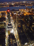 City at Night. View from the Empire State Building, New York City, at night stock images