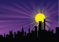 City in the night Royalty Free Stock Image