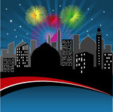 City in the night vector illustration