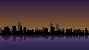 City at Night. Vector Illustration of a city at night Stock Photography
