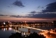 City at night. Novi sad city at night Royalty Free Stock Photo