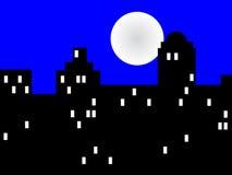 City at night. City night scene for design Stock Photo