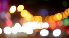 City at night background with cars. Out of focus background with blurry unfocused city lights. Moscow, Russia stock footage