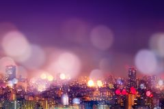City nightlife, blur bokeh background. City night background. Nightlife in City with blur bokeh light background decoration on colorful filter background royalty free stock photo