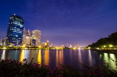 City at night , Bangkok,Thailand. Royalty Free Stock Photo