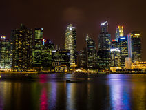 City in the Night (Singapore) Royalty Free Stock Photography