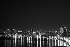 City at night with black Royalty Free Stock Photography