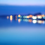 City at night - blurred photo Stock Images