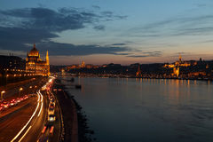 The city at night in Budapest Stock Image