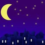 City at night. Buildings silhouette. Stock Photos