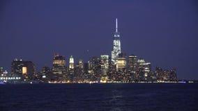 City at Night, Buildings, Urban Areas stock video footage
