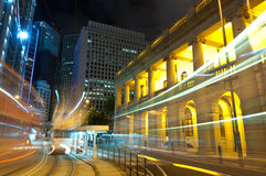 City Night in Central, Hong Kong Stock Photography