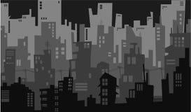 City night downtown. City nightlight downtown skyscraper urban royalty free illustration