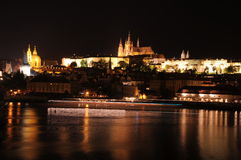 City at night. Europe. Prague. Royalty Free Stock Photo