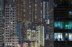 City night in Hong Kong Royalty Free Stock Photos