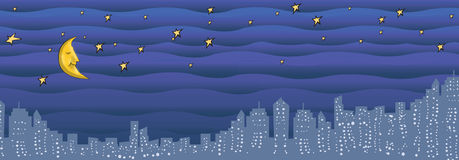 City Night illustration Stock Image