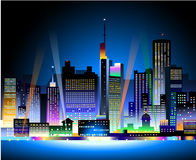 City at Night. Is a  illustration Royalty Free Stock Image