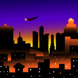 City at Night. Is a  illustration Royalty Free Stock Photos