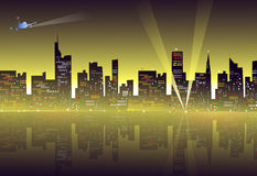City at Night-. City at Night is a  illustration Stock Photo