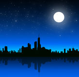 City at Night -. City at Night is a  illustration Royalty Free Stock Photography