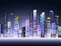 City at Night. Is a  illustration and image Stock Images