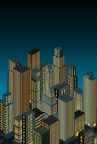 City at night -isometric perspective- vector Stock Photos