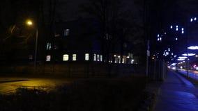 City at night. 4K UHD. Native video stock video