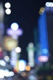 City night light blur bokeh for background, Bangkok Royalty Free Stock Images