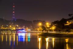 City night light, Dalat city Vietnam Stock Photos