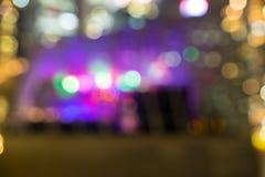 City night lights blurred bokeh Stock Photography