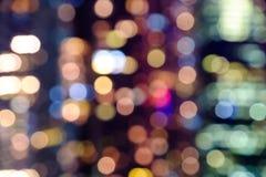 City night lights blurred bokeh Royalty Free Stock Photos