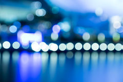 City night lights blurred bokeh soft tone Stock Images