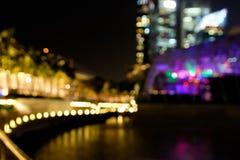 City night lights blurred bokeh Stock Image