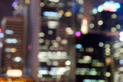 City night lights blurred bokeh Royalty Free Stock Images