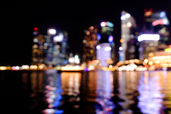City night lights blurred bokeh Stock Images