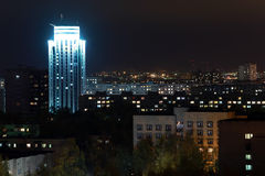 City night lights Stock Image