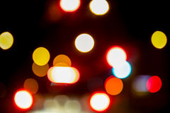 City night lights perspective blurred by high speed of the car. Stock Image