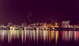 City. Night city at long exposure Royalty Free Stock Photo