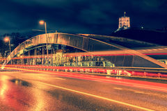 City night, long exposure royalty free stock photography