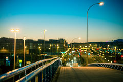 City at night. A city at night, Madrid Stock Photography