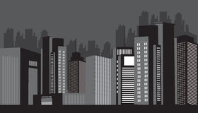 City At Night. Modern city Night skyline illustration design Stock Images