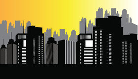 City At Night. Modern city Night skyline illustration design Royalty Free Stock Image