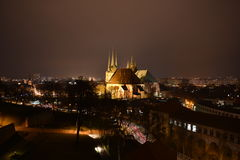 City at night. This picture shows Erfurt at night stock photo
