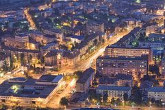 City at night, Romania Royalty Free Stock Photography